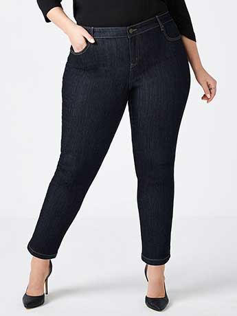 Petite Slightly Curvy Fit Straight Leg Jean - d/c JEANS
