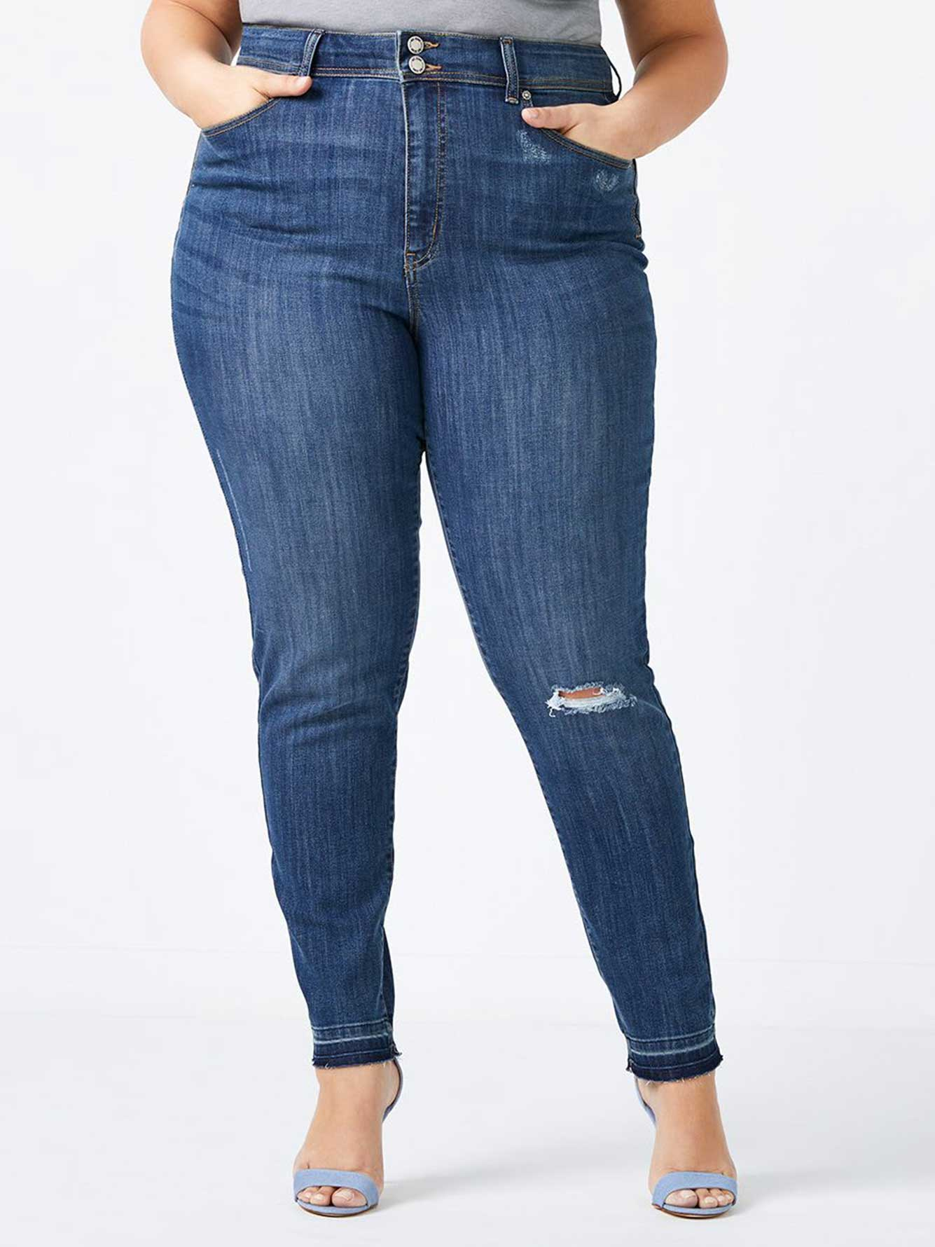 Plus Size Jeans: Skinny, High Waisted & More Update your denim collection with our wide array of plus size jeans from Belk. Made with stretch fabrics and form-fitting details, our jeans are the ultimate blend of comfort and style.