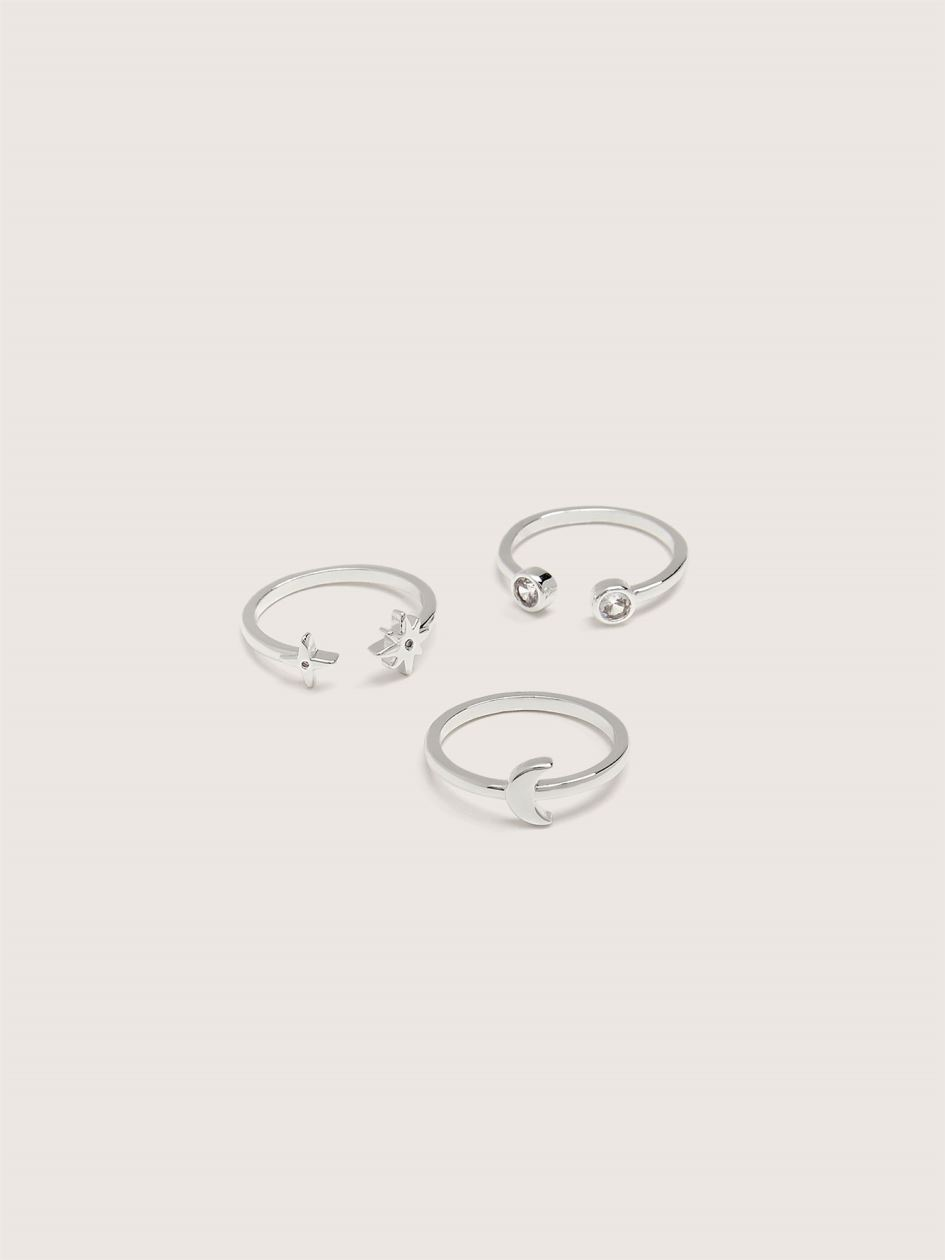 Silver Plated Constellation Rings, 3-Pack - Addition Elle