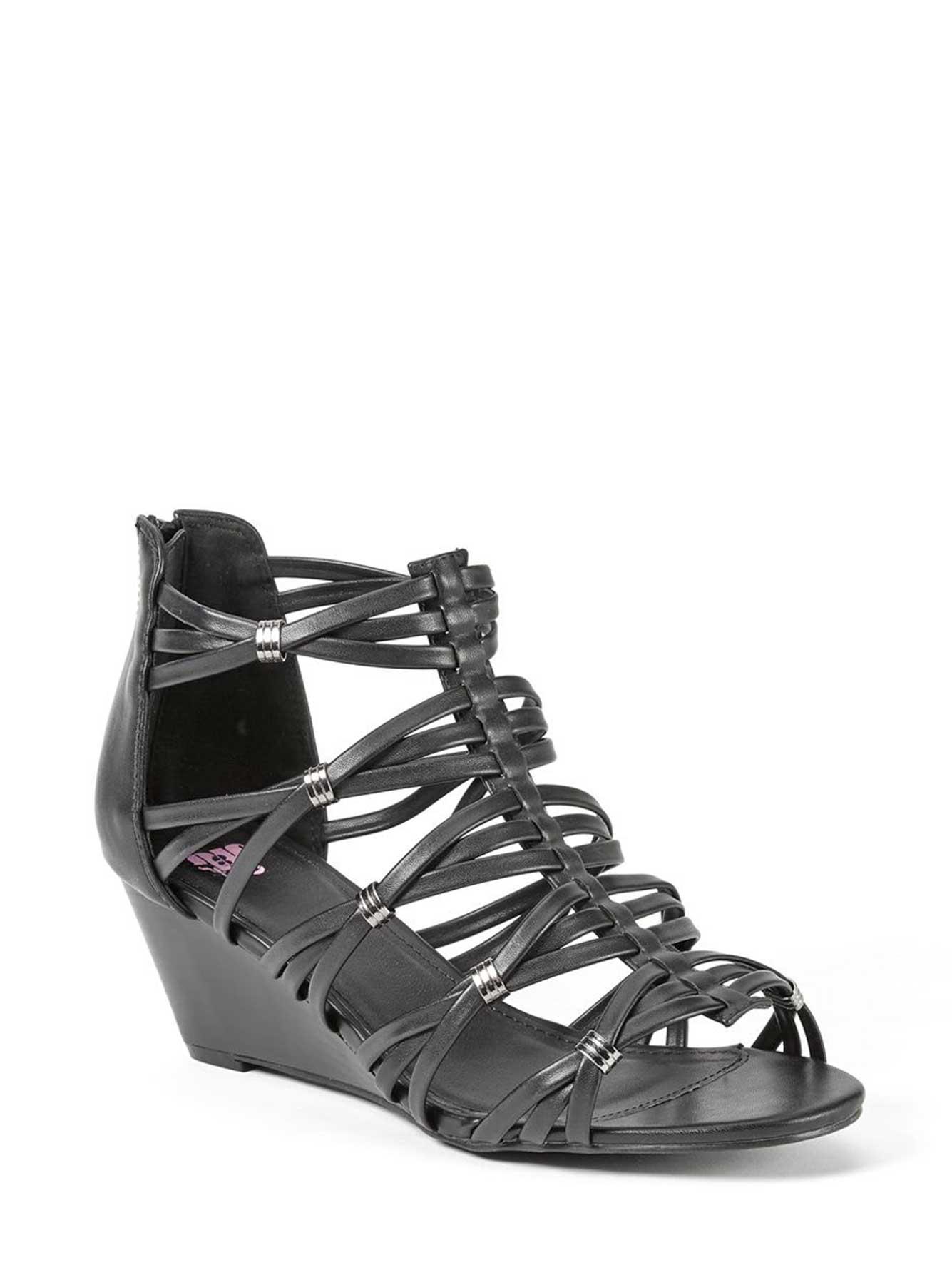 c263a66d271 Wide-Width Multri Strap Wedge Sandals