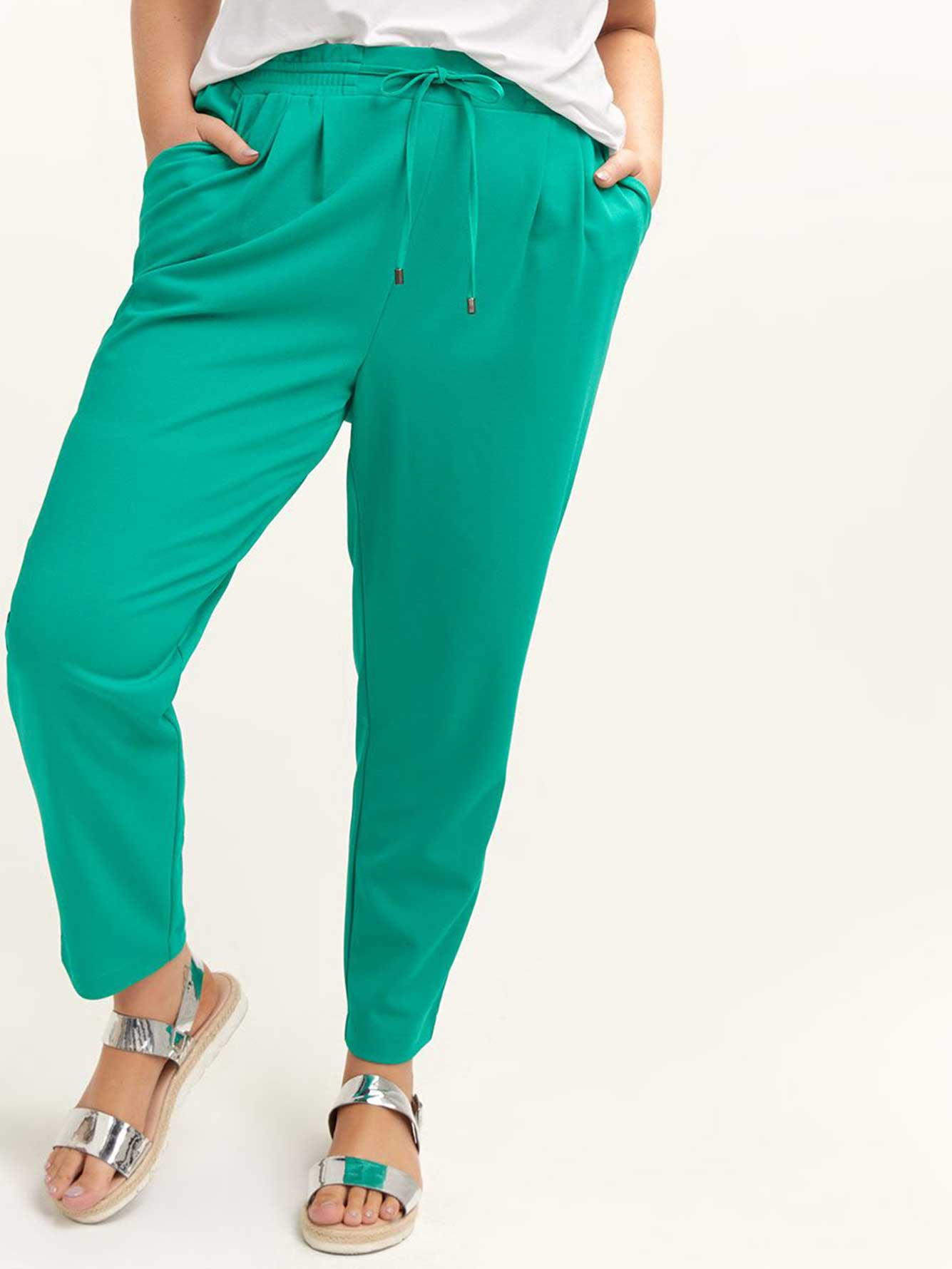 Pull-On Ankle Pant with Smocked Waist