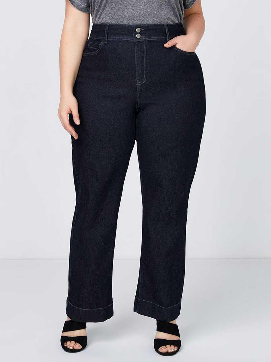 Curvy Fit Wide Leg Trouser Jean - d/c JEANS