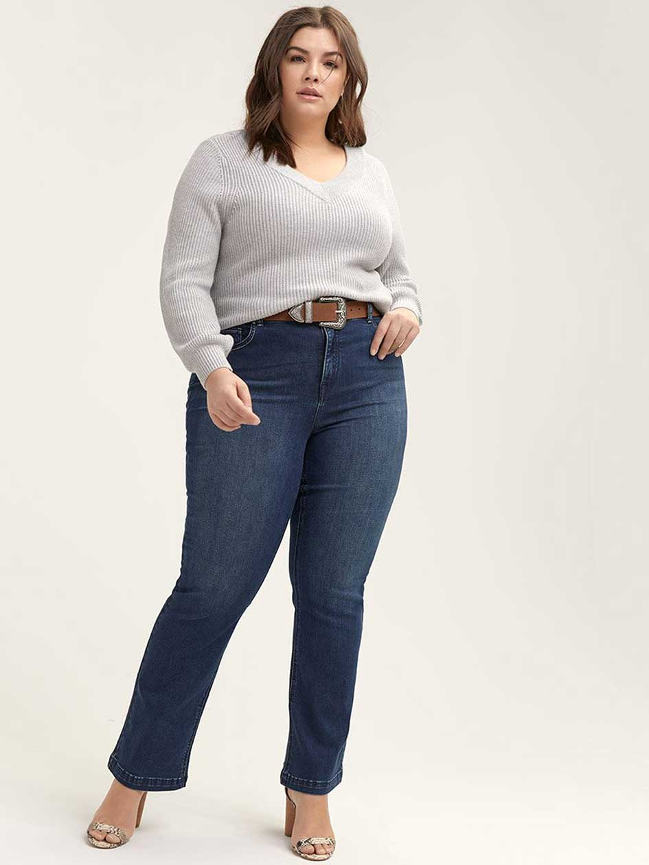 d3121cac09e Sculpting Fit Bootcut Jean with Embroidery - d c JEANS