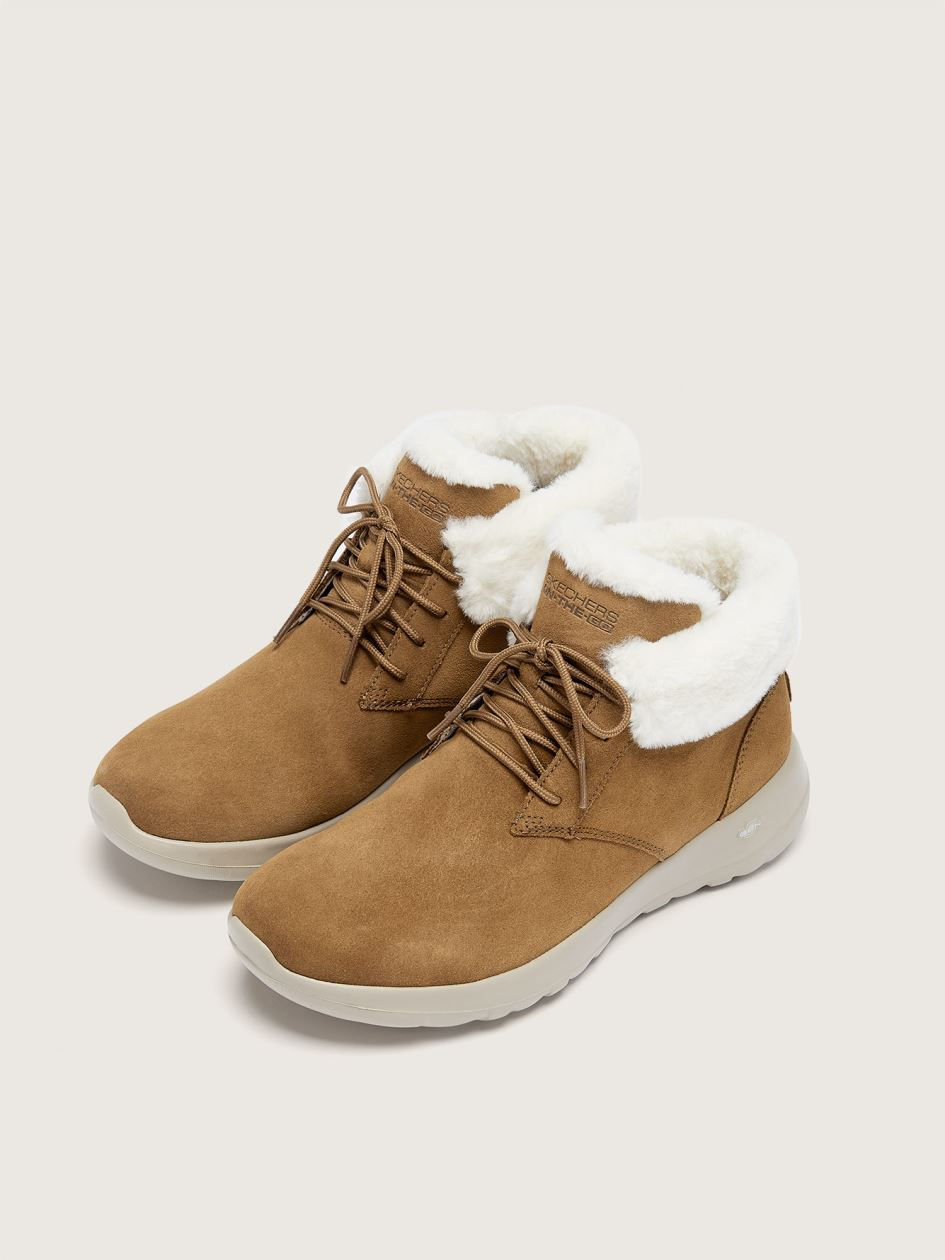 On The Go Joy-Lush Wide Suede Bootie - Skechers