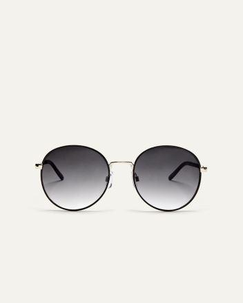 098e3ab1a812 Metallic Round Sunglasses