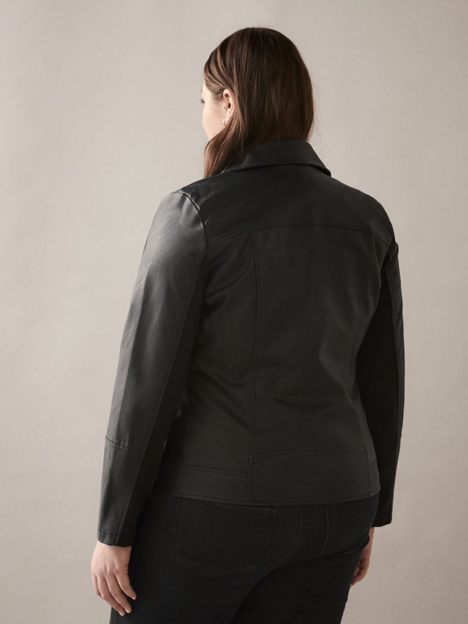 Faux-Leather Biker Jacket - In Every Story