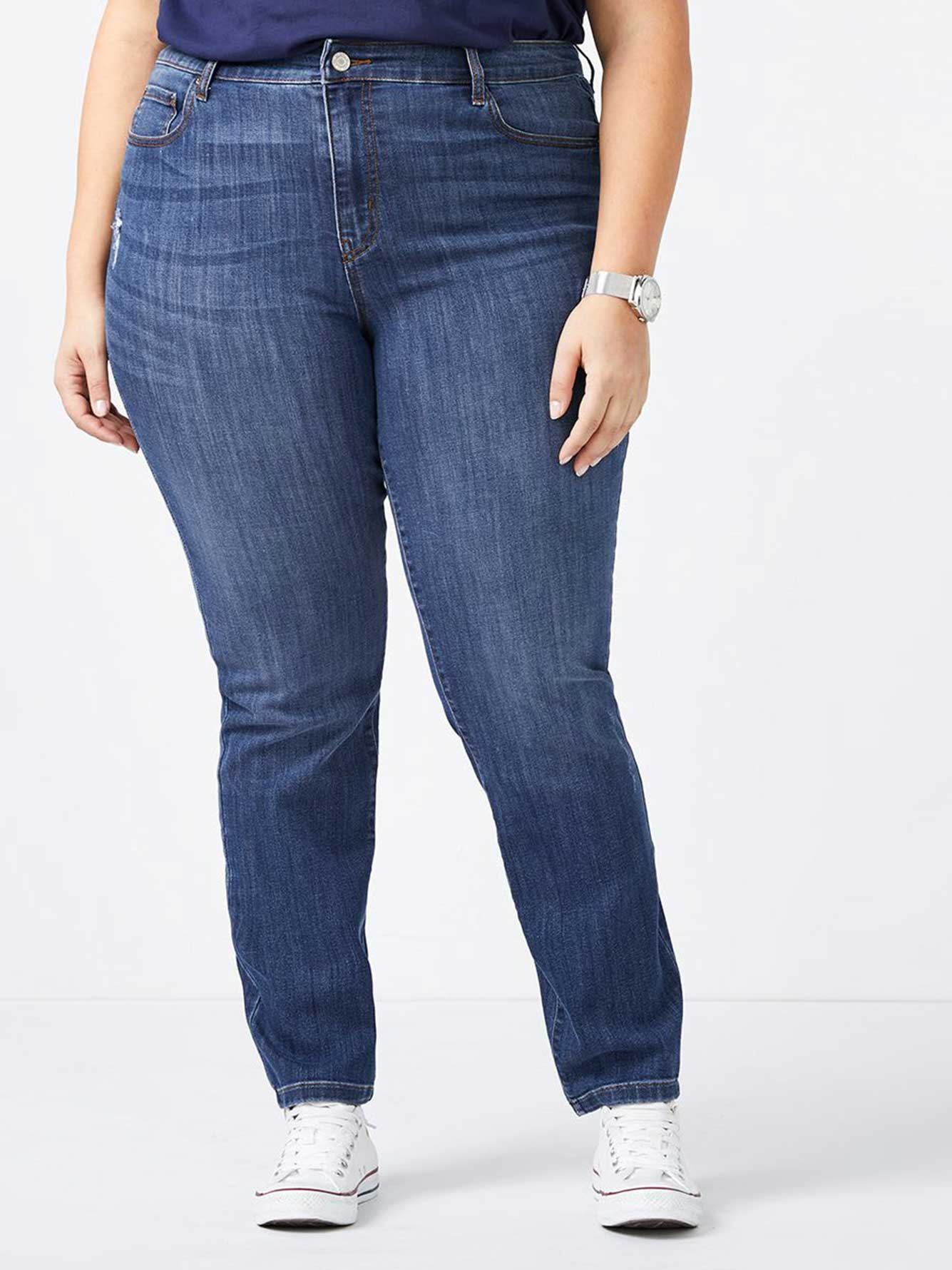 ONLINE ONLY - Tall Slightly Curvy Fit Straight Leg Jean - d/c JEANS