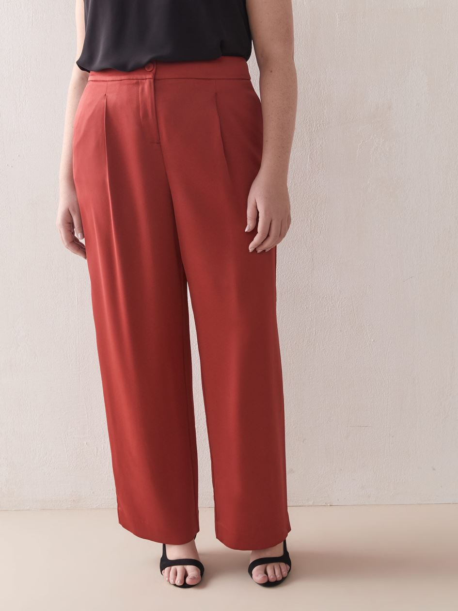 High-Waist Wide-Leg Pant - Addition Elle