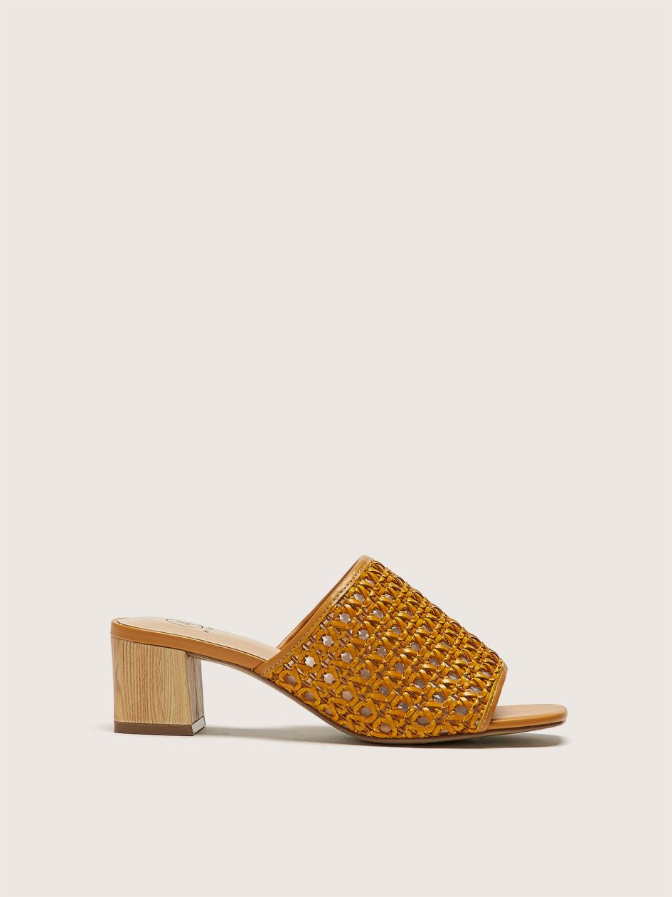 Wide Braided Raffia Sandal - Addition Elle