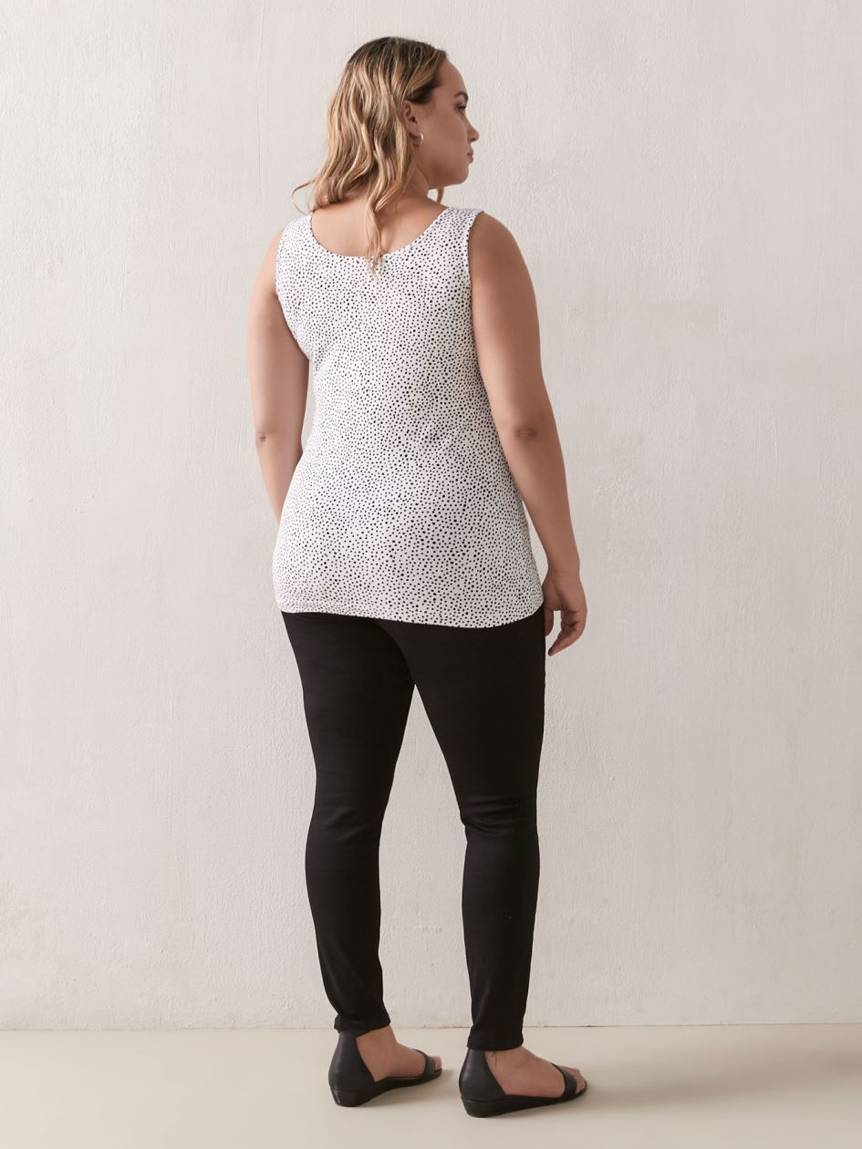 Cotton Fitted Tank - Addition Elle