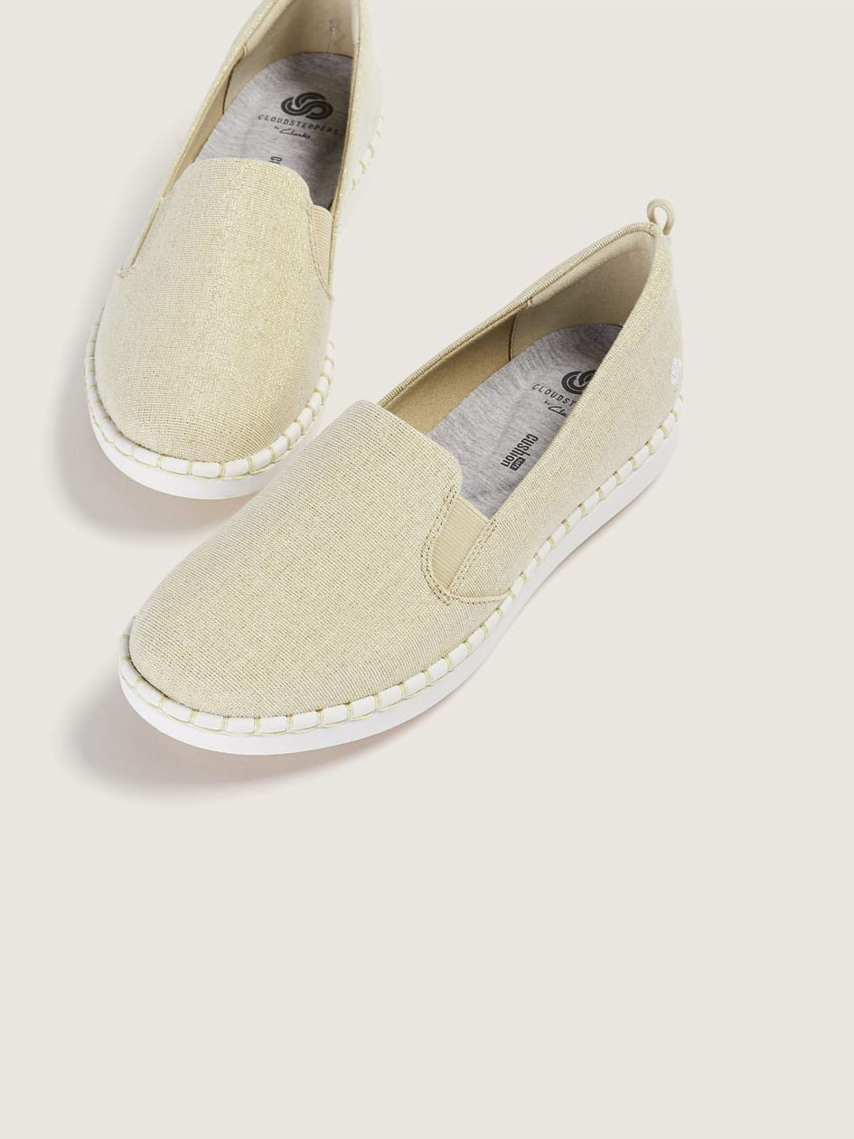 Wide Flat Slip-On Shoes - Clarks