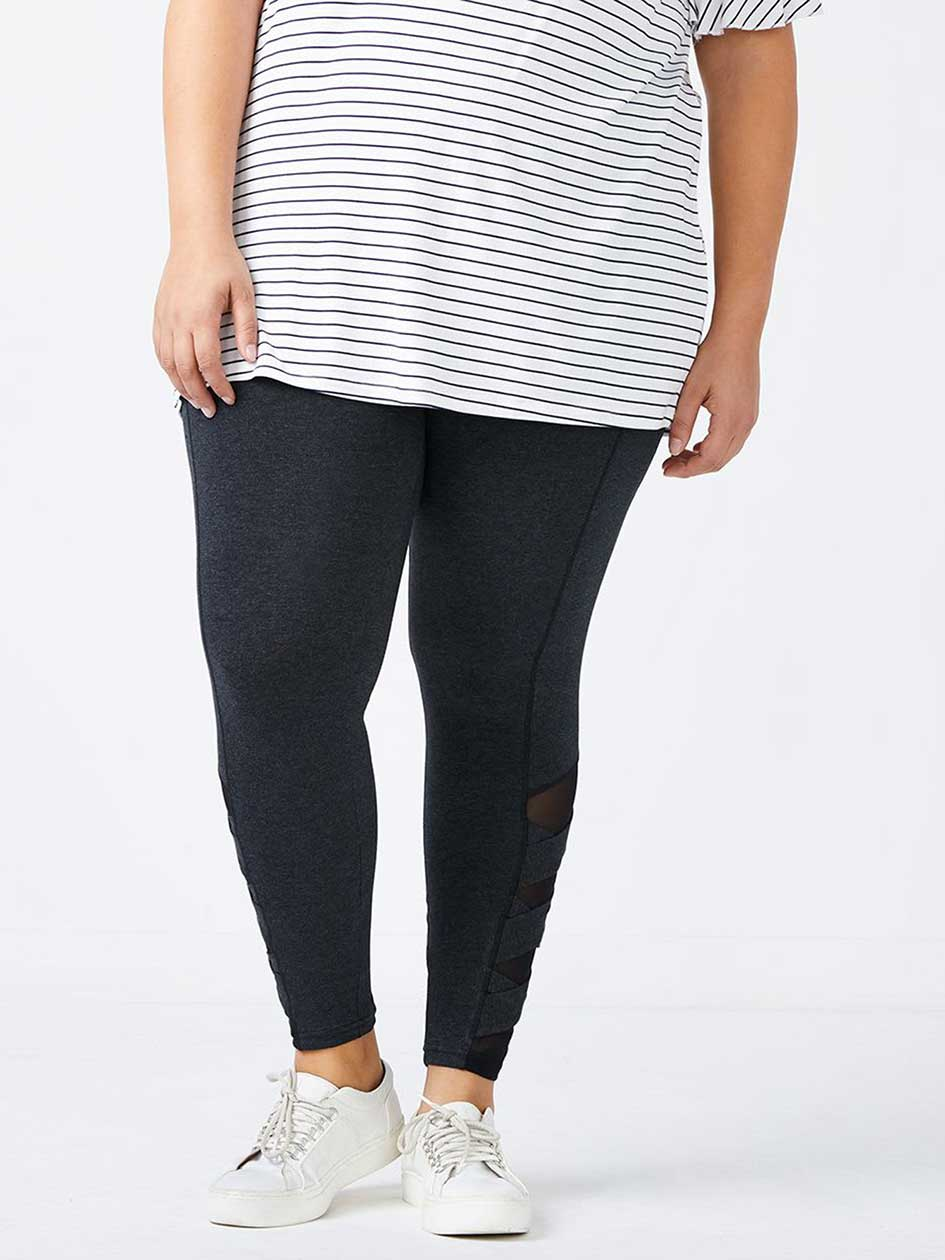 Legging with Criss-Cross Detail