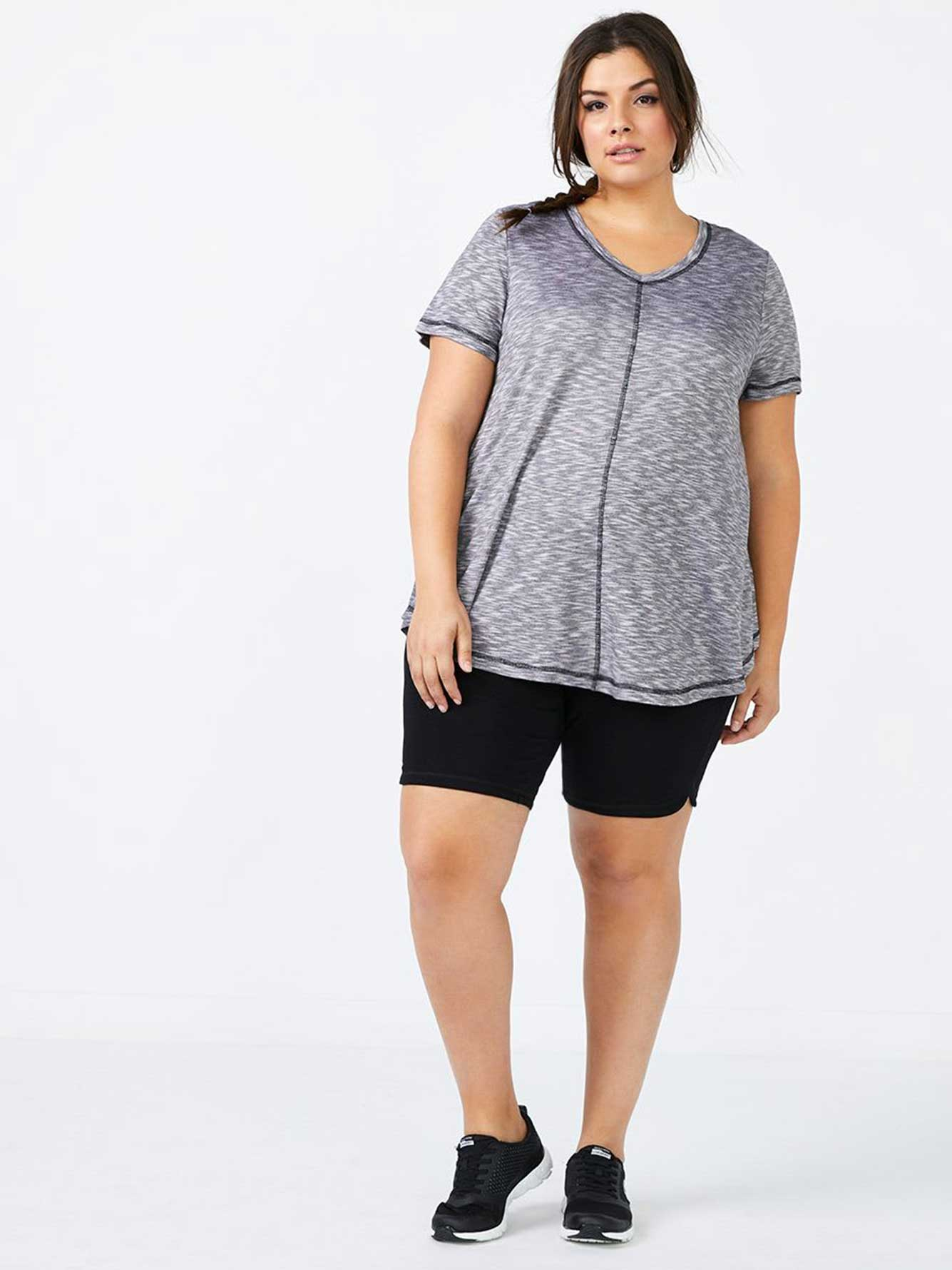 Essentials - Plus-Size Flared T-Shirt