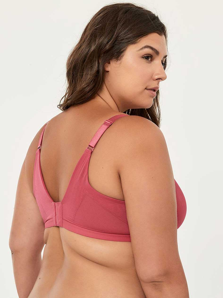 Striped Soft Cup Bra with Criss-Cross Detail - ti Voglio