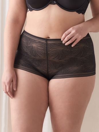Solid Lace Boyshort Panty - Addition Elle