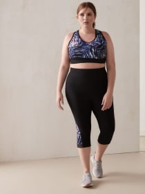 Capri Legging with Mesh and Print