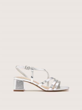 Wide Asymmetric Block Heel Sandal - Addition Elle