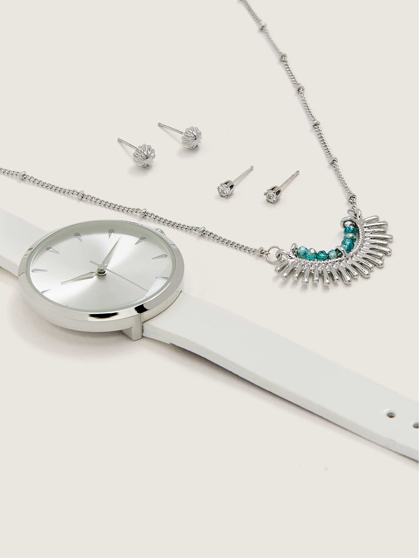 Watch Gift Set, Aqua/Silver - In Every Story