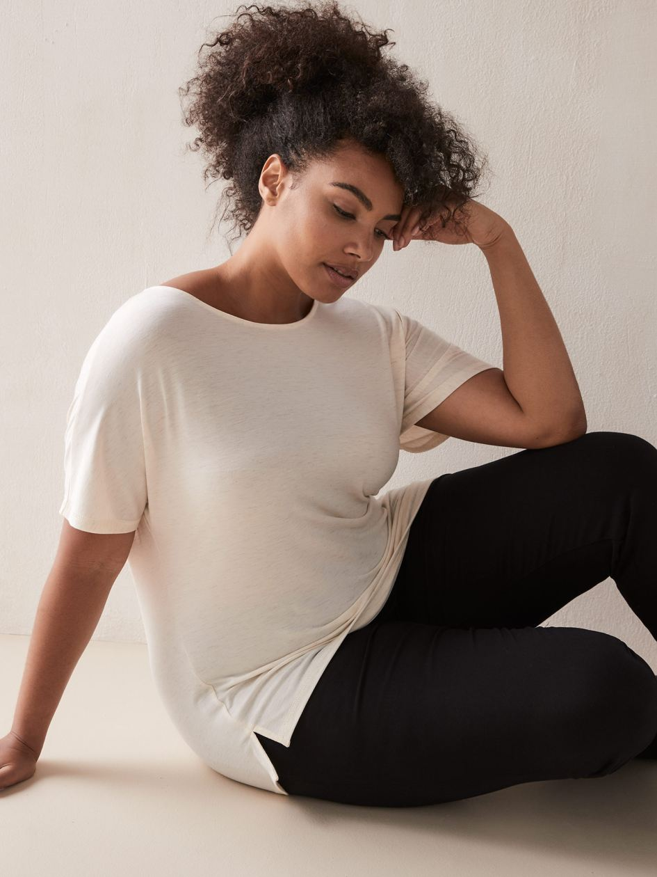 Addition Elle - Short Sleeve T-Shirt with Scoop Neck