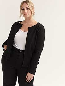 Plus Size Peplum Jacket - ActiveZone