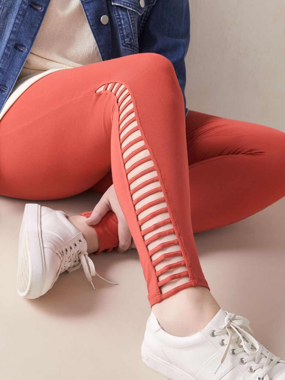 Side Lattice Legging - Addition Elle