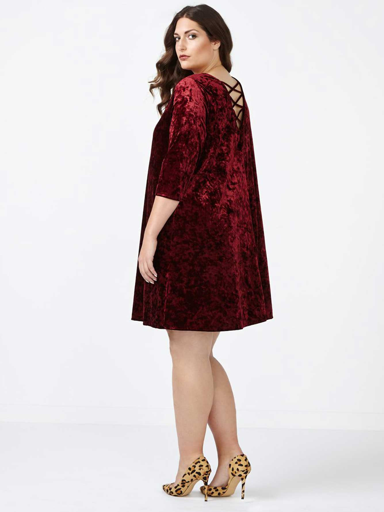ONLINE ONLY - Velvet Swing Dress
