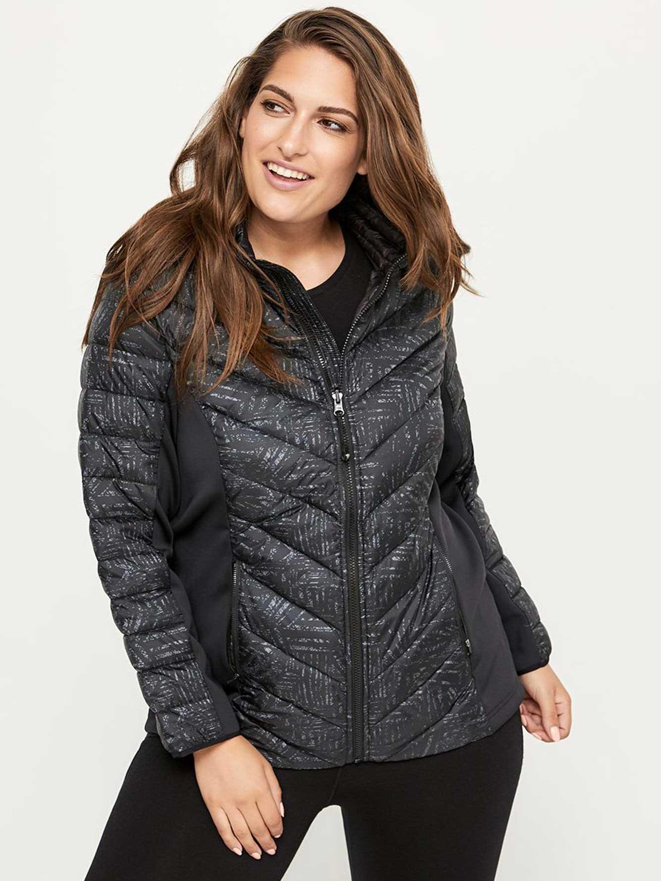 34e99a118b3c4 Packable Plus Size Hooded Jacket - ActiveZone