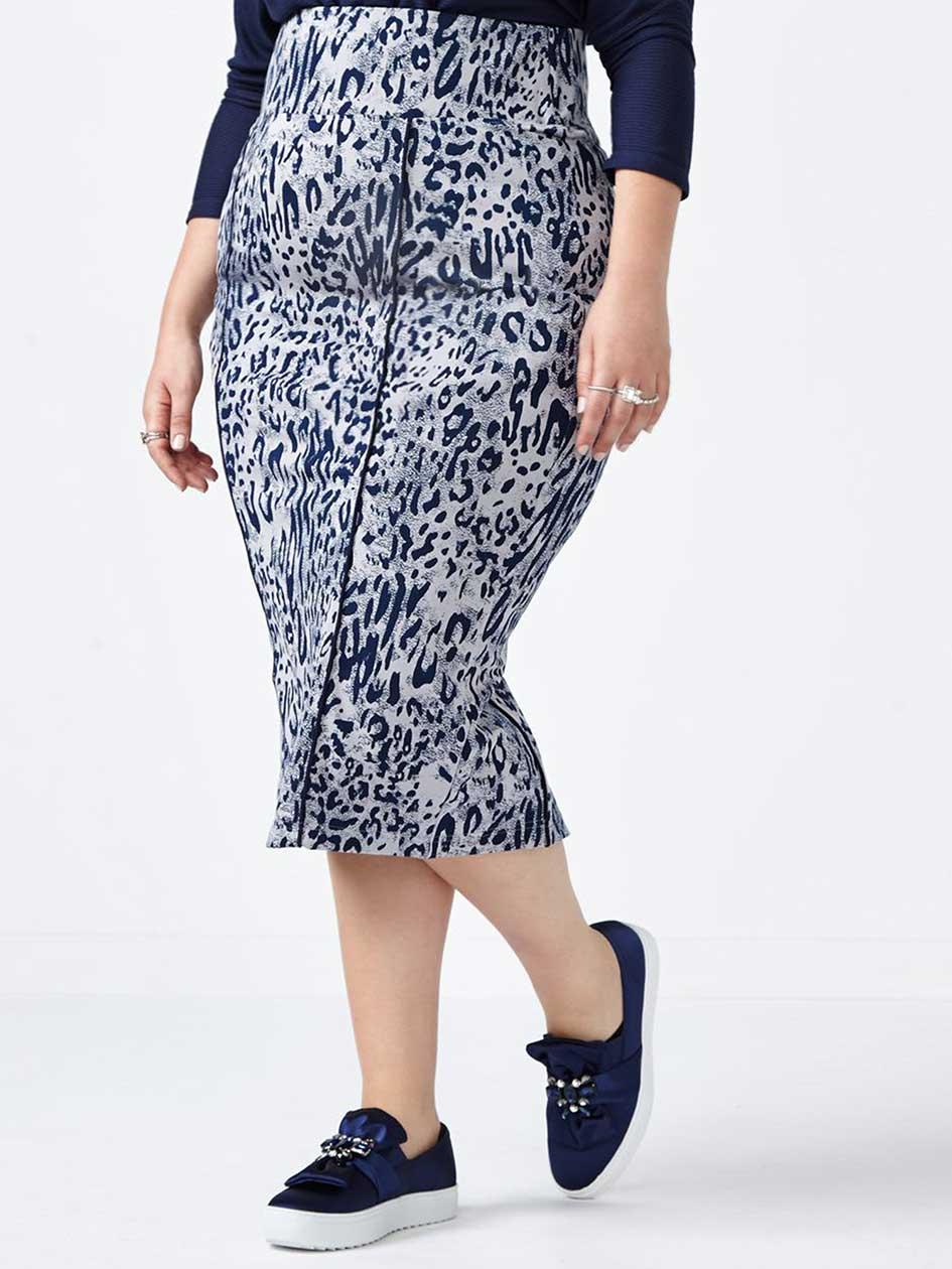 MELISSA McCARTHY Animal Print Pencil Skirt