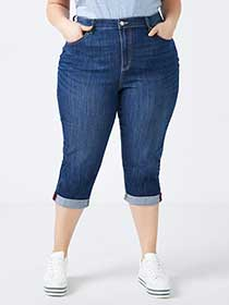 Curvy Fit Denim Capri - d/C JEANS