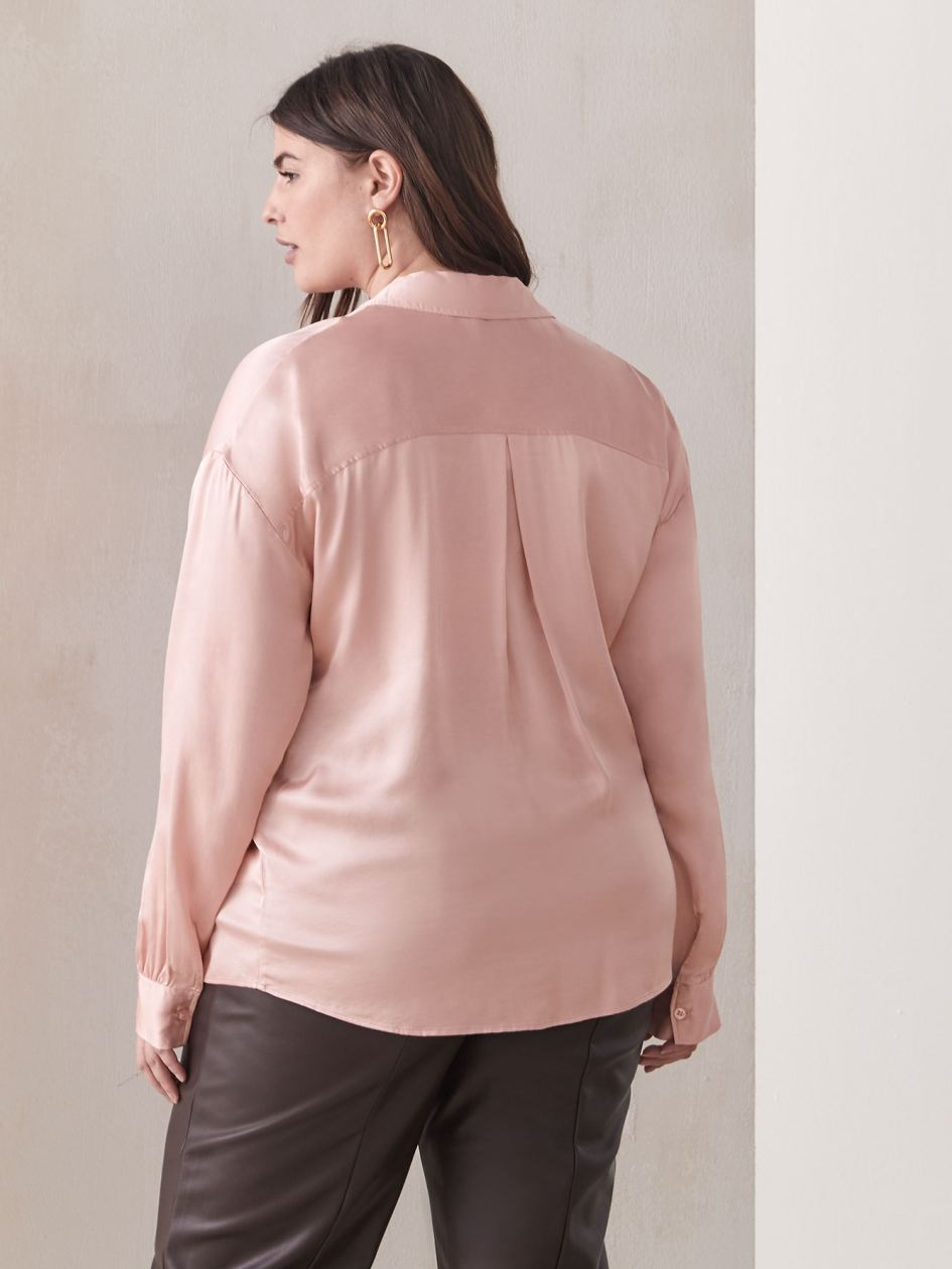 Long-Sleeve Loose Fit Blouse - Addition Elle