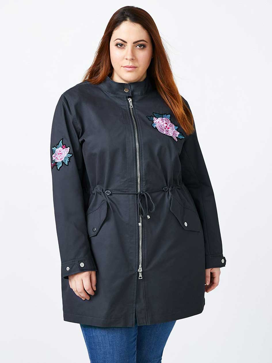 Embroidered Military Parka - d/c JEANS