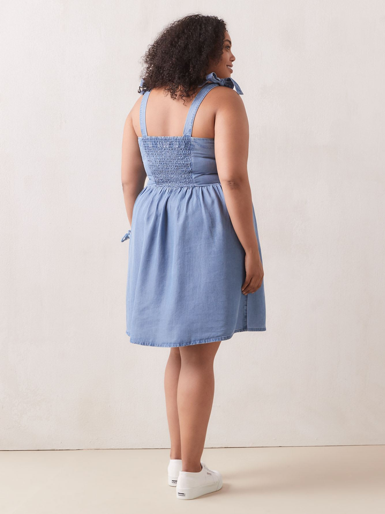 Responsible Fit And Flare Tencel Dress - Addition Elle