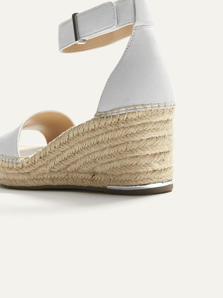 Wide Wedge Leather Espadrilles - Franco Sarto