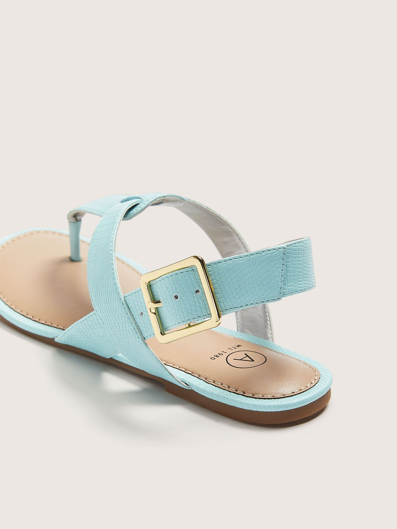 Wide Ankle Strap Thong Sandal - Addition Elle