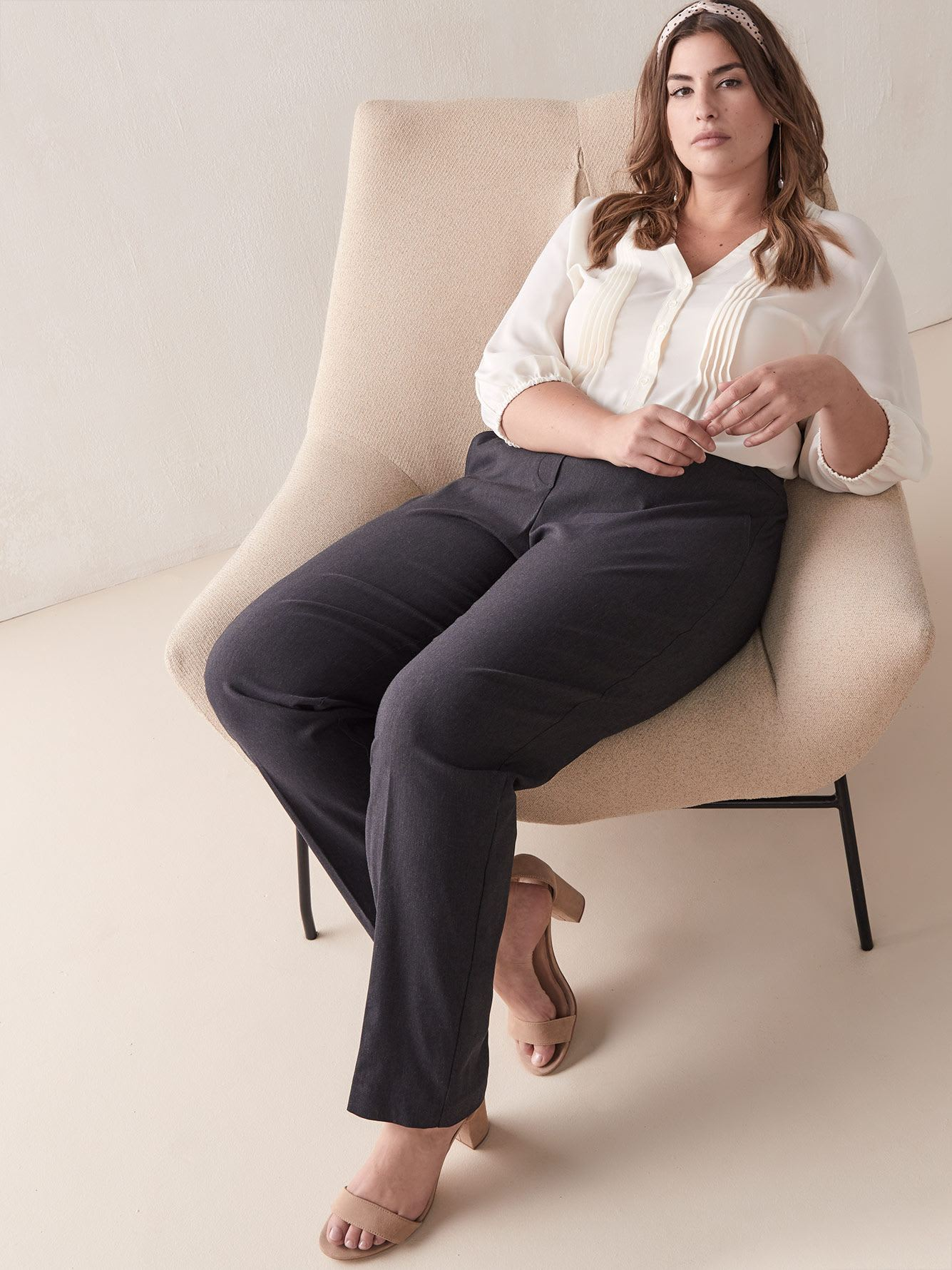 Savvy, Petite, Straight-Leg Ankle Pant - Addition Elle