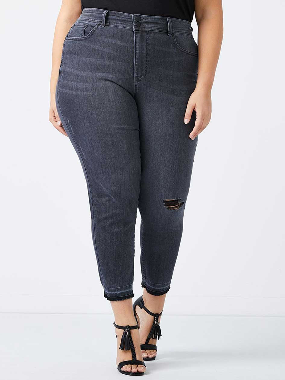D jeans high waist ankle plus