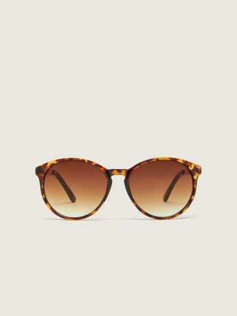 Oval Sunglasses With Metal Temples - In Every Story