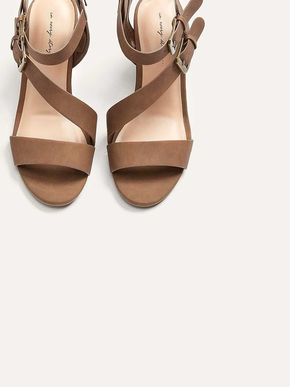 Wide Wedge Sandals with 2 Buckles