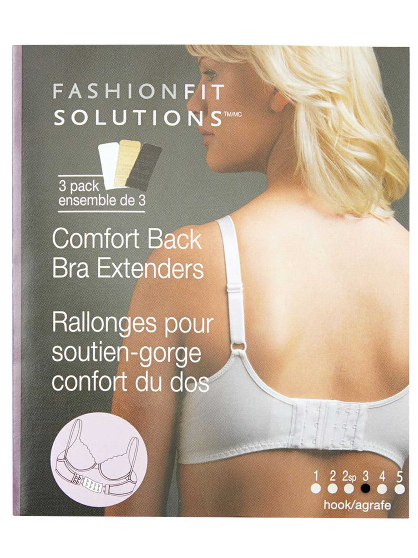 3-Hook Bra Extenders (Set of 3)