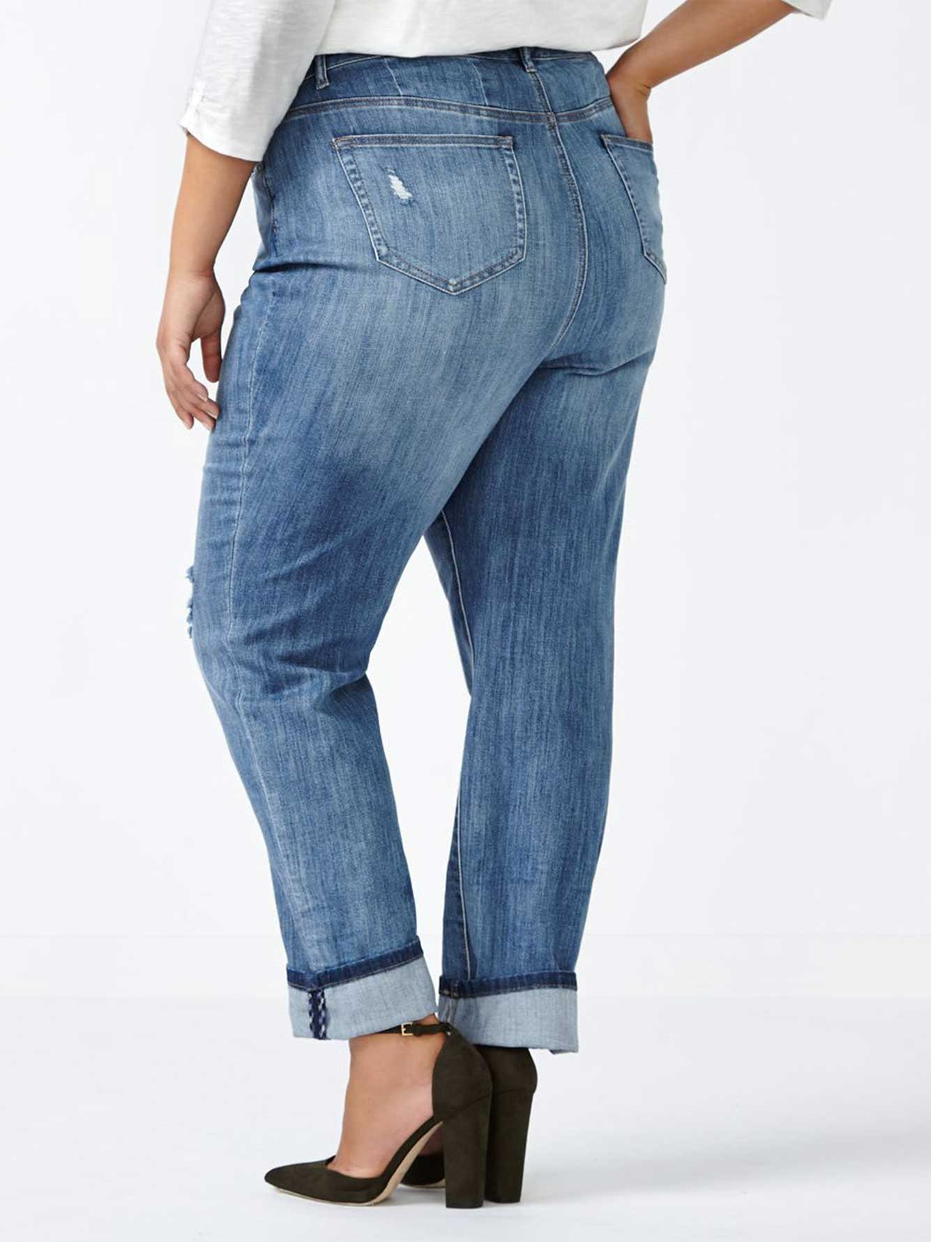 online only d c jeans curvy fit boyfriend jean penningtons. Black Bedroom Furniture Sets. Home Design Ideas