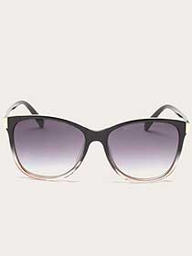 Black Sunglasses with Pink Fade