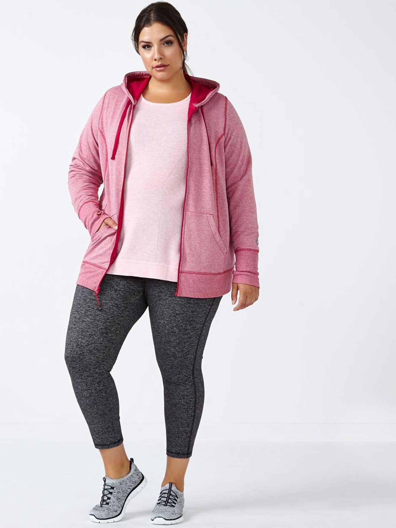 essentials - plus-size zip up hoodie | penningtons