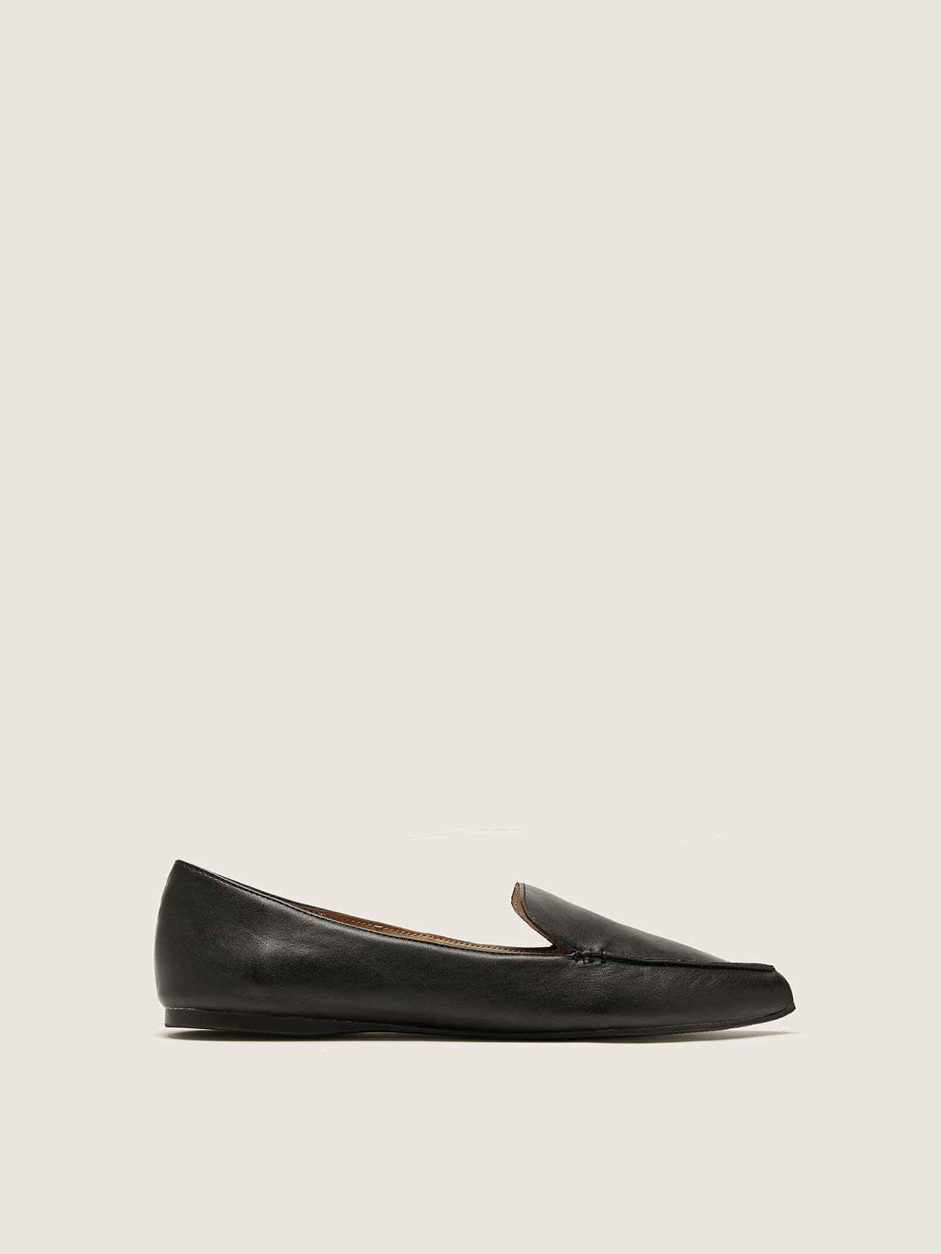 Pointed Toe Leather Loafer - Steve Madden