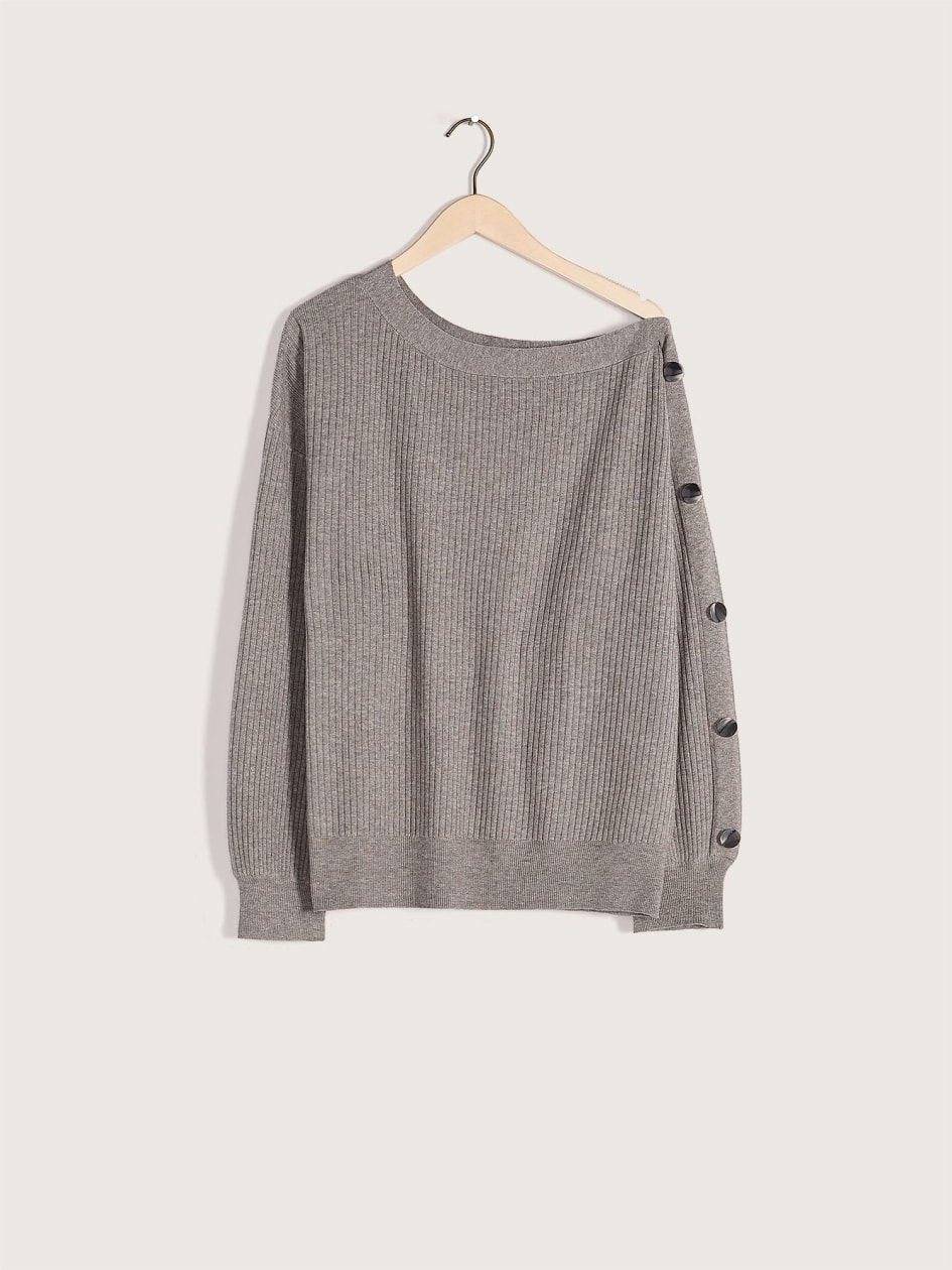 Asymmetrical Off-The-Shoulder Sweater - Addition Elle