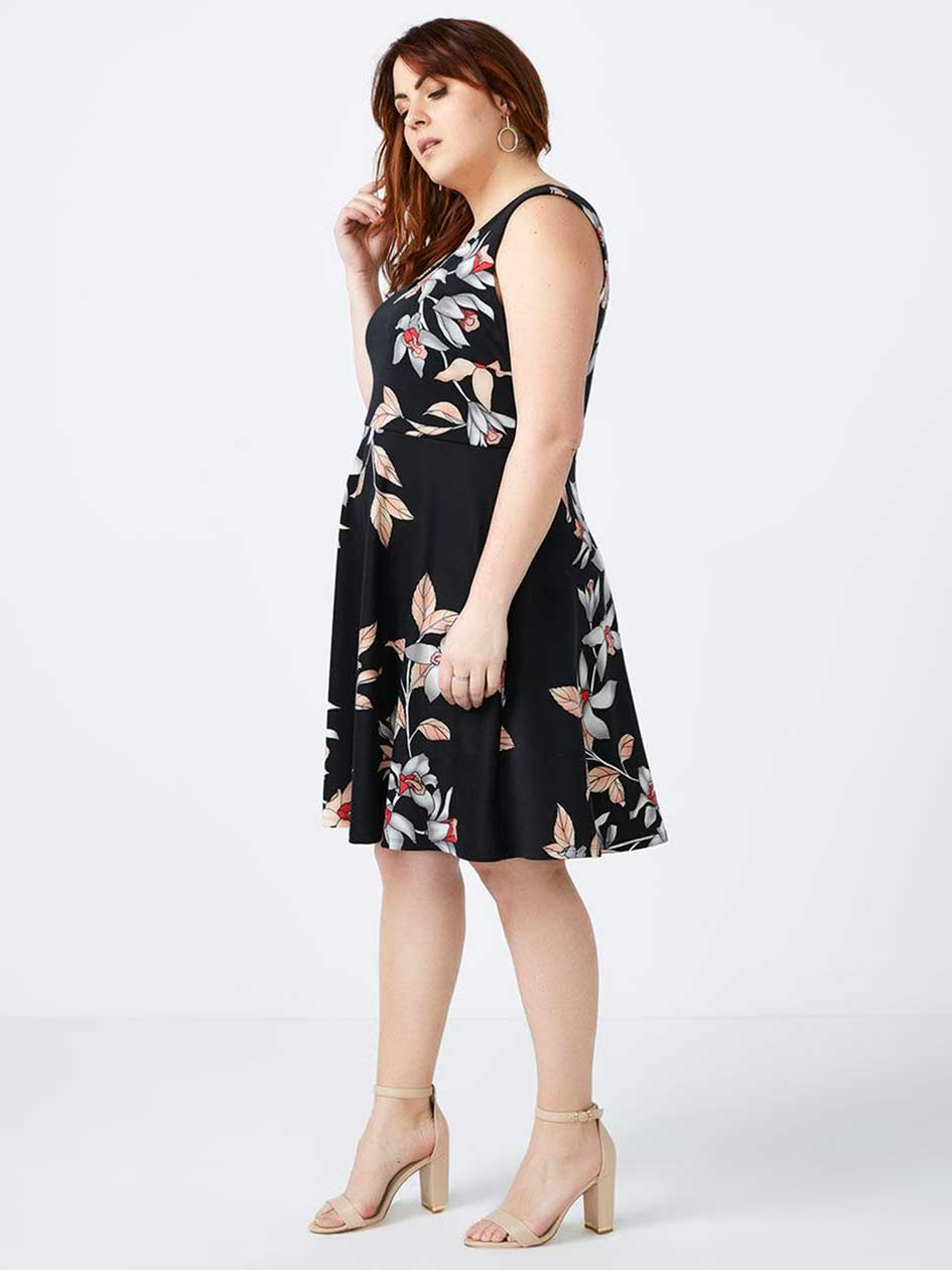 ONLINE ONLY Fit and Flare Floral Dress - In Every Story