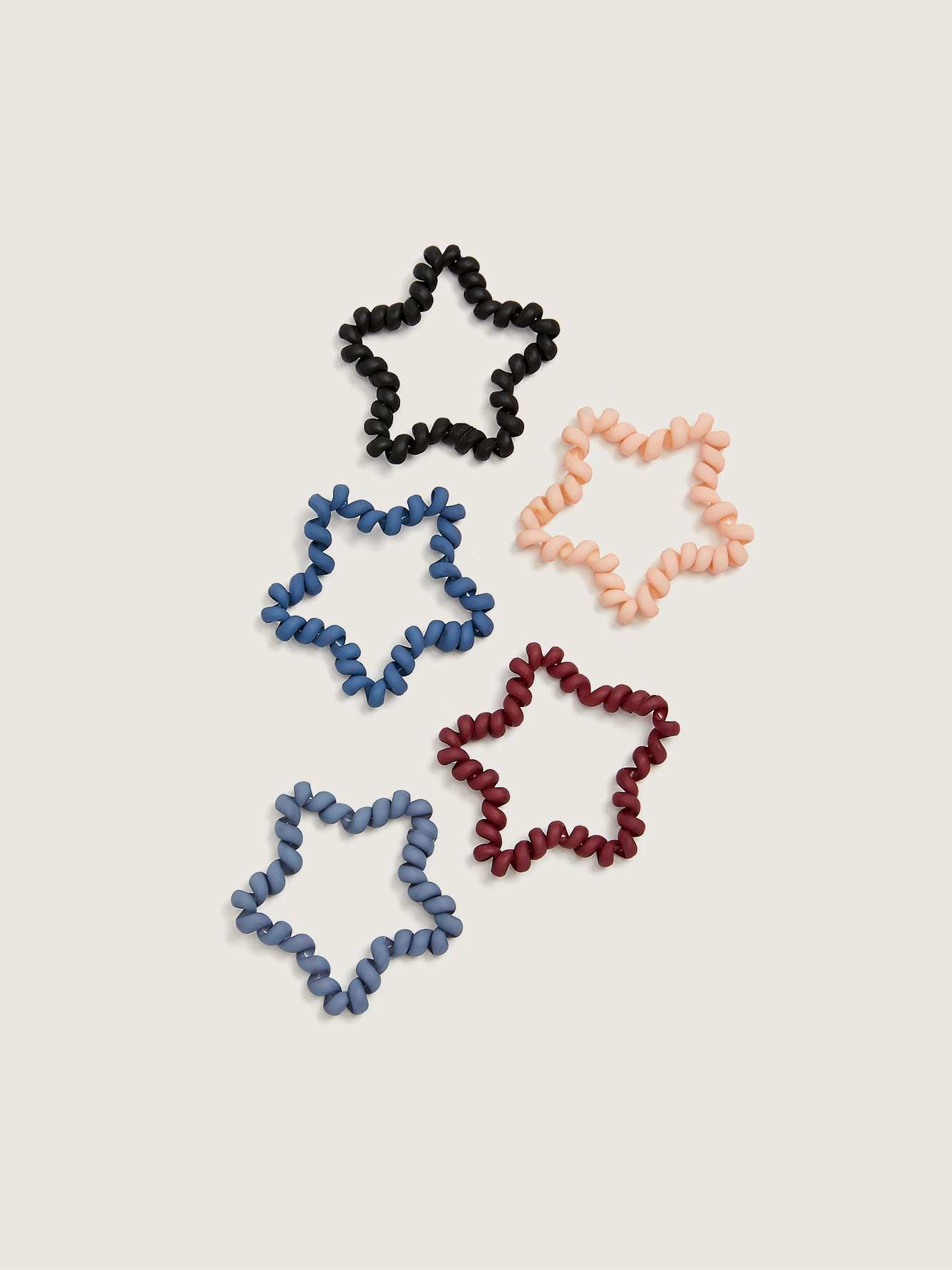 Star-Shaped Hair Coils, 5-Pack - Addition Elle