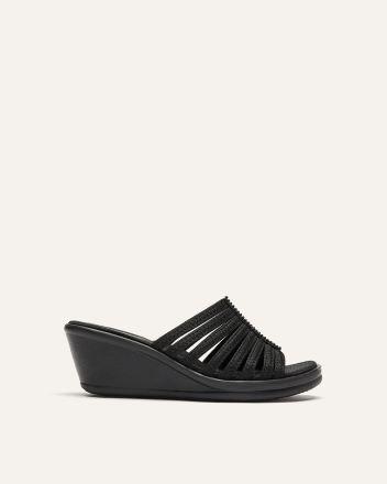 Wide Width Multi-Straps Wedge Sandals - Skechers 9f14dd471