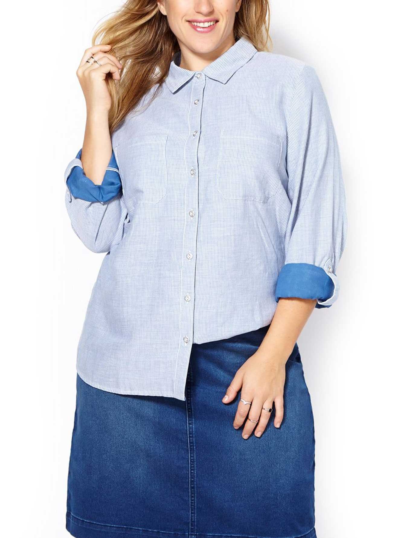 226d6db1ed7 d c JEANS Long Sleeve Button Up Cotton Shirt