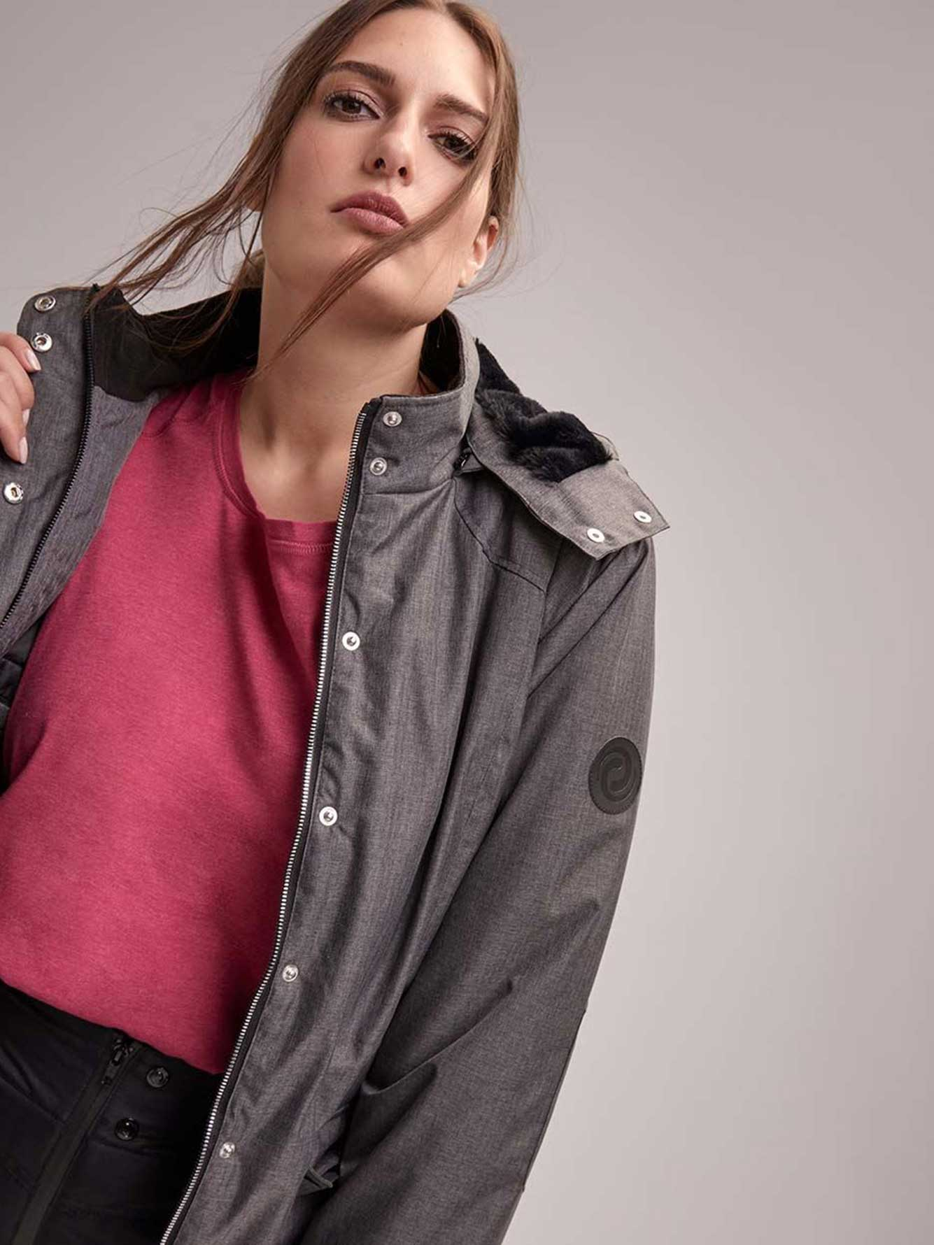 e574aa12ae9a3 Plus Size Hooded Ski Jacket - ActiveZone
