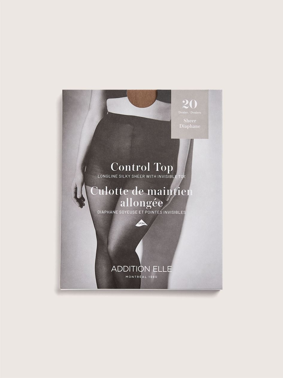 Silky Sheer 20D Control Nylons - Addition Elle